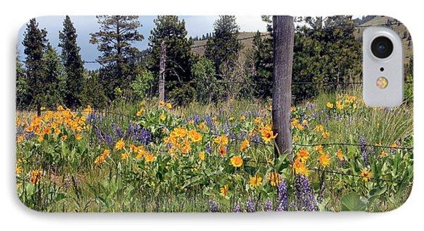 Montana Wildflowers IPhone Case by Athena Mckinzie