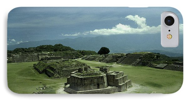 Monte Alban Plaza IPhone Case by John  Mitchell