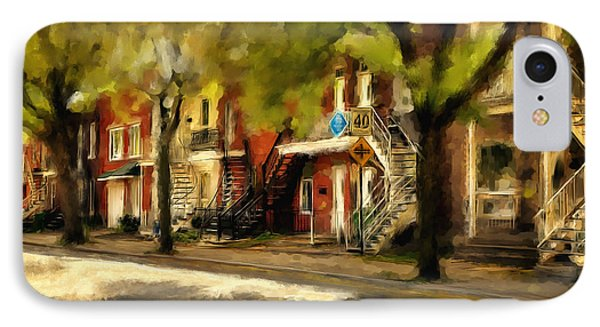 Montreal Street IPhone Case by Diane Dugas