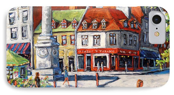 Montreal Street Urban Scene By Prankearts Phone Case by Richard T Pranke