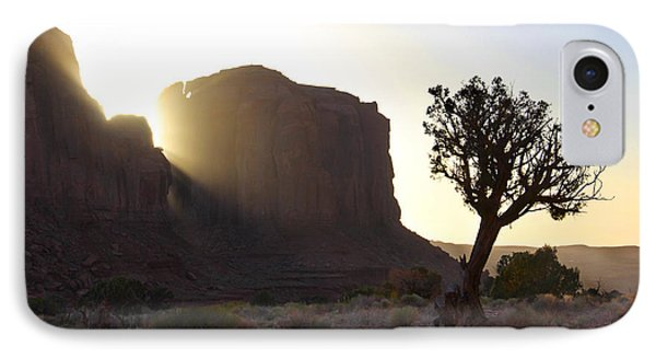 Desert Sunset iPhone 7 Case - Monument Valley At Sunset by Mike McGlothlen