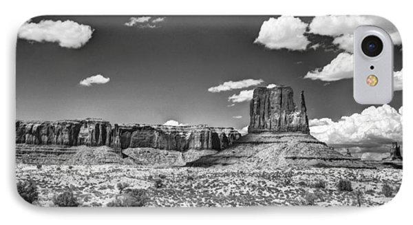 Monument Valley In Monochrome  Phone Case by Saija  Lehtonen