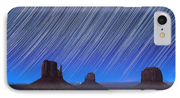 Monument Valley Star Trails 1 IPhone Case by Jane Rix