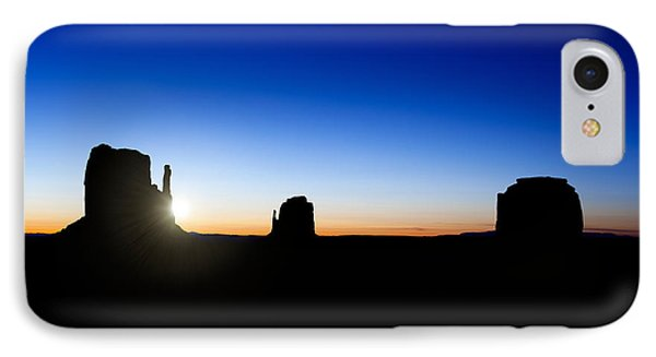 Monument Valley Sunrise Phone Case by Jane Rix