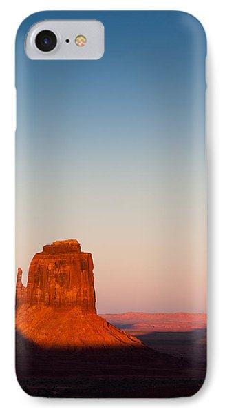 Monument Valley Sunset Phone Case by Dave Bowman