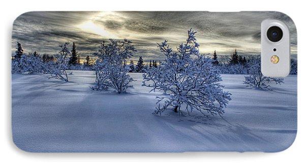 Moody Snow Scene IPhone Case by Michele Cornelius
