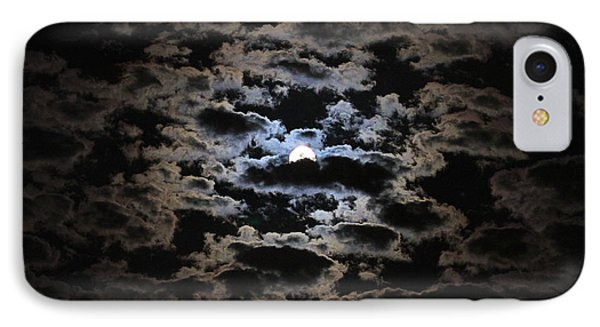 Moon And Clouds IPhone Case by Paul Marto