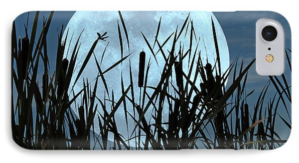 Moon And Marsh IPhone Case by Deborah Smith