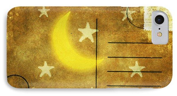 Moon And Star Postcard Phone Case by Setsiri Silapasuwanchai