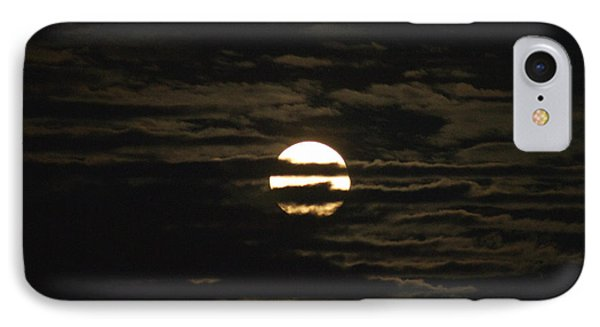 IPhone Case featuring the photograph Moon Behind The Clouds by William Norton
