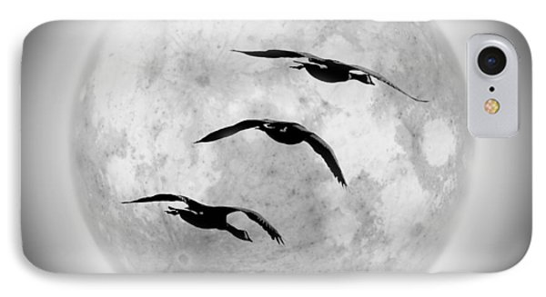 Moon Geese Phone Case by Brian Wallace