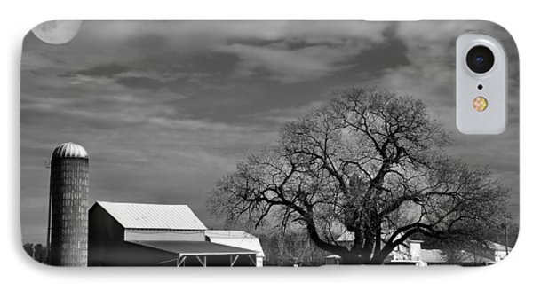 Moon Lit Farm Phone Case by Todd Hostetter