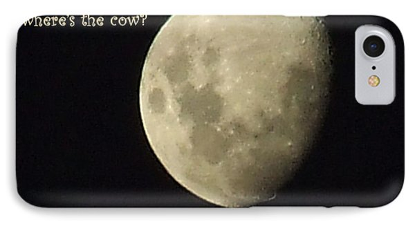 IPhone Case featuring the photograph Moon Missing Cow by Vicki Ferrari