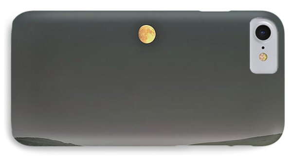 Moon Over The Palouse IPhone Case by Albert Seger
