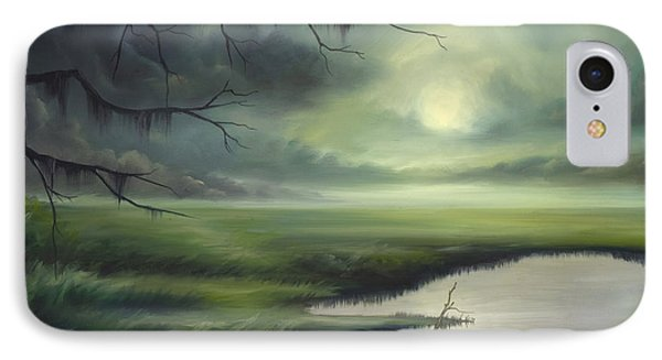 Moon Over Wadmalaw Island  Phone Case by James Christopher Hill