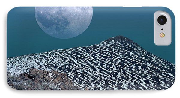 Moon-rise Over A Volcano Phone Case by Detlev Van Ravenswaay