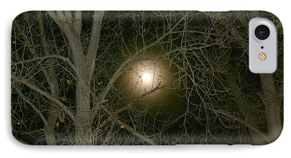 IPhone Case featuring the photograph Moon Through The Trees by Laurel Talabere