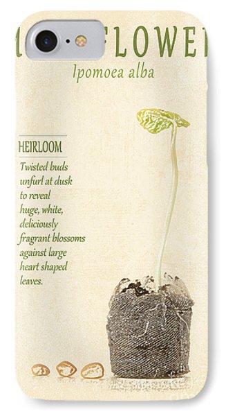 Moonflower Vine Seedling  Phone Case by Anne Kitzman