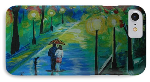 IPhone Case featuring the painting Moonlight Stroll Series 1 by Leslie Allen