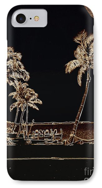 Moonlit Palms Phone Case by Rene Triay Photography