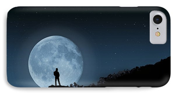 IPhone Case featuring the photograph Moonlit Solitude by Steve Purnell