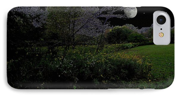 Moonrise In Flossmoor Forest IPhone Case by Cedric Hampton