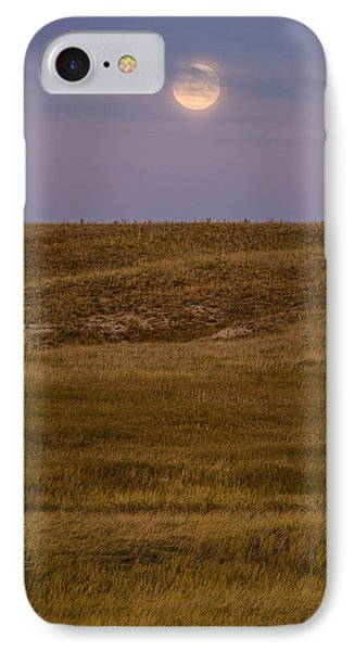 Moonrise Over Badlands South Dakota Phone Case by Steve Gadomski