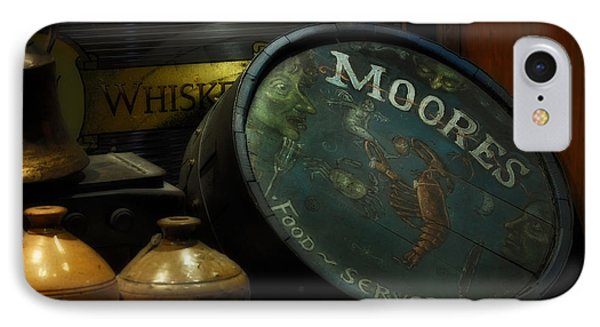Moore's Tavern After Closing Phone Case by Mary Machare