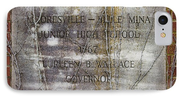Mooresville - Belle Mina Junior High School 1967 Phone Case by Kathy Clark