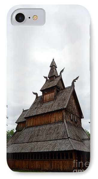 Moorhead Stave Church 26 IPhone Case