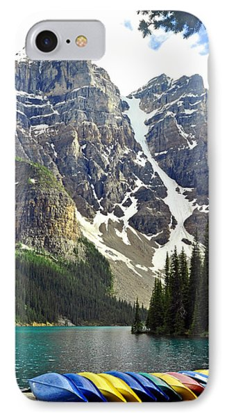 IPhone Case featuring the photograph Moraine Lake by Lisa Phillips