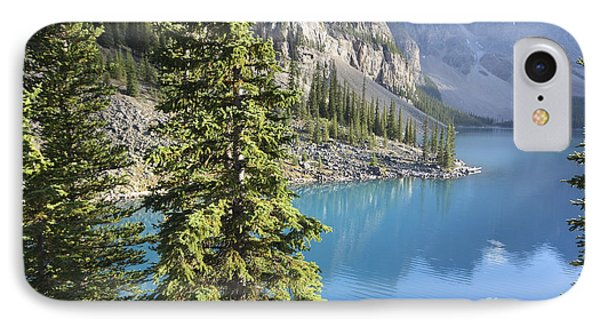 IPhone Case featuring the photograph Moraine Lake  by Milena Boeva