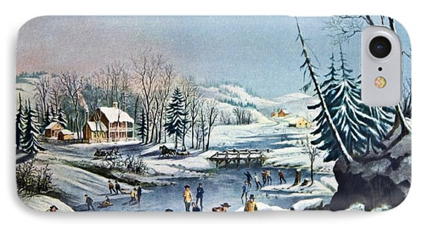 Morning By Currier And Ives Phone Case by Susan Leggett