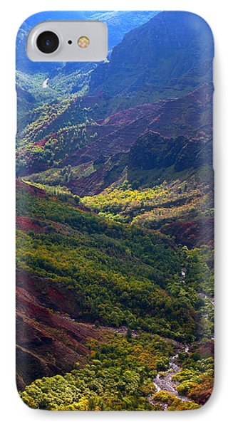 Morning Waimea Canyon IPhone Case by Mike Reid