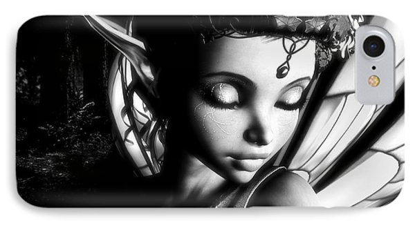 Morning Fairy Bw Phone Case by Alexander Butler