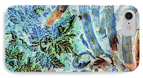 IPhone Case featuring the photograph Morning Frost On Engelmann Daisies And Mesquite Beans by Louis Nugent
