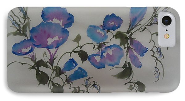 IPhone Case featuring the painting Morning Glory--2011 by Dongling Sun