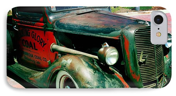 IPhone Case featuring the photograph Morning Glory Coal Truck by Nina Prommer