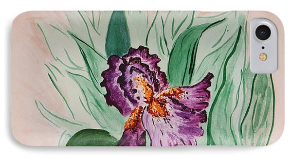 IPhone Case featuring the painting Morning Iris by Cynthia Morgan