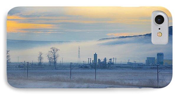 Morning Landscape In Winter Phone Case by Gabriela Insuratelu
