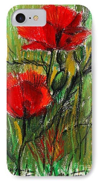 Morning Poppies Phone Case by Mona Edulesco