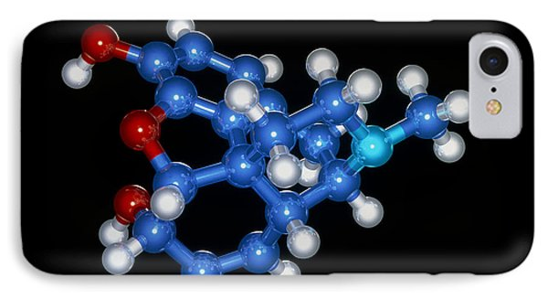 Morphine Drug Molecule Phone Case by Laguna Design