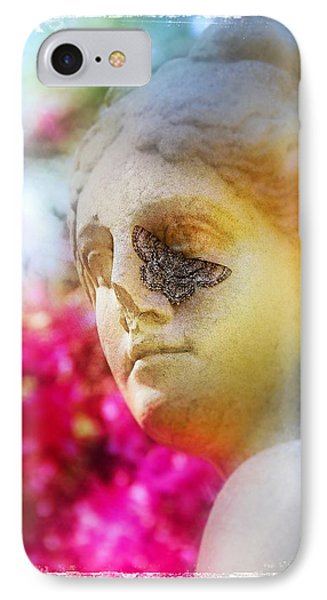 Moth On Statue IPhone Case by Judi Bagwell