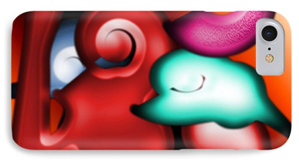 IPhone Case featuring the digital art Mother And Child by George Pedro