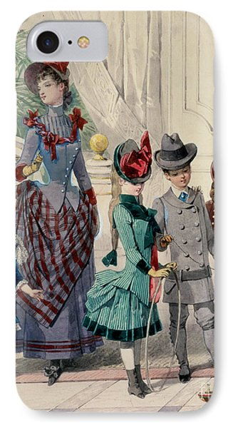 Mother And Children In Indoor Costume Phone Case by Jules David