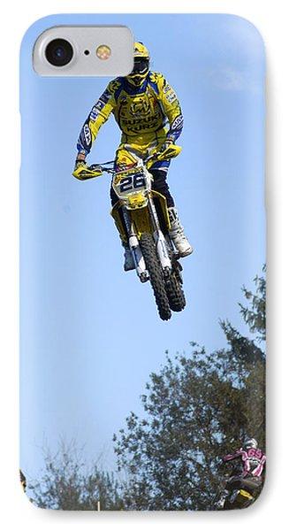 Motocross Rider Jumping High Phone Case by Matthias Hauser