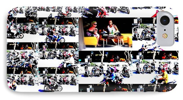 Motorbike Watching On Ubud Streets   Phone Case by Funkpix Photo Hunter