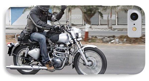 Motorbiker Peace Phone Case by Kantilal Patel