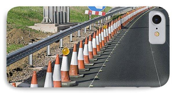 Motorway Traffic Cones Phone Case by Linda Wright