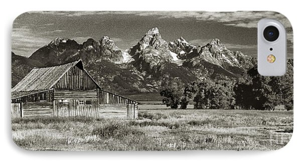 Moulton Barn And The Grand Tetons Phone Case by Sandra Bronstein